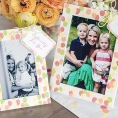 """Learn how to make a fingerprint frame. Perfect for #MothersDay. """"@HGTV"""