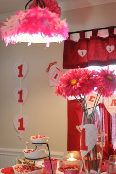 Lottie's 1st Birthday - Valentine's Theme