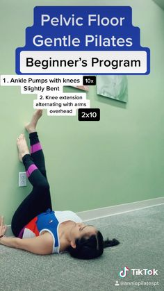 Pilates For Beginners, Gym Workout For Beginners, Fitness Workout For Women, Workout Videos, Pilates Workout, Pilates Body, Beginner Morning Yoga, Sport, Pelvic Floor
