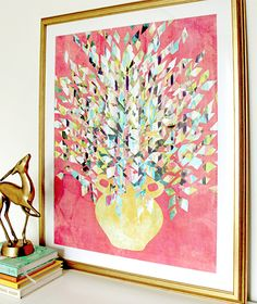 """""""Cheer Up in Pink"""" art print by COZAMIA   #art, #decor, #cozamia"""