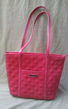 Vera Bradley Quilted Villager Pink Tote Purse Handbag  verabradley   verabradleyvillager Vintage Names 1fd9399910055