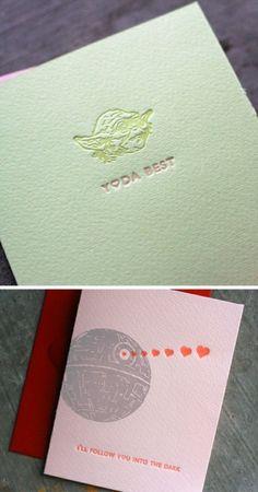 letterpress star wars valentine's cards by lberkeley