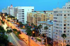 Long Beach, CA Downtown on Ocean Blvd.