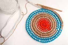 Free pattern: Fabric Yarn Carpet   We Are Knitters