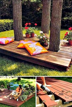 Top 19 Simple and Low-budget Ideas For Building a Floating Deck. - Feste Home Decor Top 19 Simple and Low-budget Ideas For Building a Floating Deck Building A Floating Deck, Building A Deck, Building Plans, Backyard Patio Designs, Backyard Ideas, Patio Ideas, Pergola Ideas, Cheap Pergola, Pergola Kits