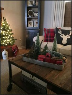 best chooices winter christmas home decoration ideas for livingroom 25 Christmas Red Truck, Plaid Christmas, Winter Christmas, Christmas Home, Christmas Ideas, Outdoor Christmas, Farmhouse Christmas Decor, Country Christmas, Christmas Table Decorations