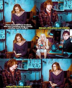I love this scene. Hermione just gets progressively more frustrated with Ron.<<<< and Harry and mr lovegood are watching them so intently Harry Potter Quotes, Harry Potter Universal, Harry Potter Fandom, Harry Potter World, Hogwarts, Ron And Hermione, Ron Weasley, Hermione Granger, Potter Facts