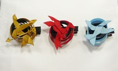The Hunger Games Symbols Hair Clip Set Hair Ribbon Sculptures