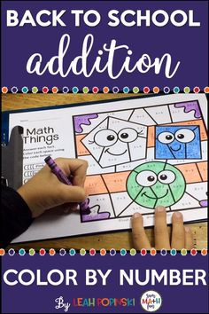 Back to School Activities - Multiplication Color by Number | Pinterest