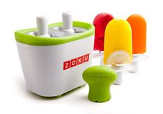 Zoku Duo Quick Freeze Pop Maker and thousands more of the very best toys at Fat Brain Toys. Watch freeze pops freeze before your eyes in just 7 minutes! The Zoku Duo Quick Freeze Pop Maker is simple and fun! Zoku Popsicle Maker, Popsicle Molds, Popsicle Recipes, Popsicle Sticks, Freeze Ice, Freeze Pops, Ice Pop Maker, Pop Stick, Sorbets