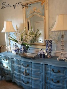 Gates of Crystal: New Lamps and a Little Blue and White