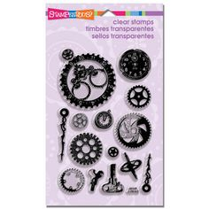 #Stampendous Perfectly Clear™ Stamps #Steampunk Gears Set - for all your vintage/modern #Fantasy stamping $14.99