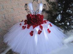 Flower Girl Tulle Flower Fairy Princess Dress Wedding Birthday Party For Red Flower Girl Dresses, Flower Girl Gown, Flower Girl Gifts, Tutu Dresses, Dress Red, Tutu Skirts, Pageant Dresses, Flower Girls, Mini Skirts