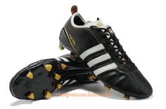 new arrival fd19c c36f3 adidas adiPure IV SL TRX FG Soccer Cleats Black White Metallic Gold  Chaussures Foot, Crampons