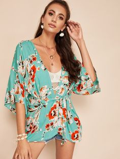12e85331f7 This beautiful #kimono #coverup is gorgeous as a swimwear cover up or as  part. Beach Frills