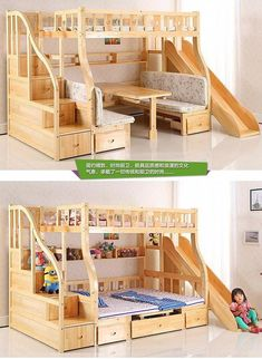 Stop by our domain for a whole lot more involving this outstanding photo - Diy Möbel Bunk Bed Designs, Kids Bedroom Designs, Kids Room Design, Home Room Design, Bed For Girls Room, Cool Kids Bedrooms, Childrens Bunk Beds, Bunk Bed Rooms, Loft Bed Plans