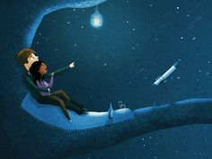 """""""And we would have the summer stars."""" -Taking Back Sunday // artwork by Nidhi Chanani"""