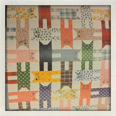 Cute cat quilt I will make for my sister