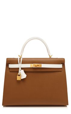 35Cm Toundra & White Epsom Leather Sellier Kelly by Heritage Auctions Special Collections for Preorder on Moda Operandi