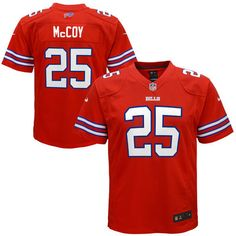 Youth XL - Buffalo Bills LeSean McCoy -  Nike Red Color Rush Game Jersey