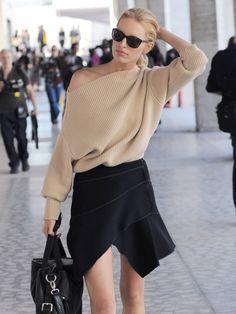 Karolina Kurkova sunglasses nude sweater