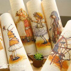 Jihen рука крашения хлопка и льняные ткани DIY ручной работы лоскутное…