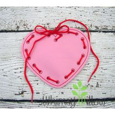 Heart Lacing Card