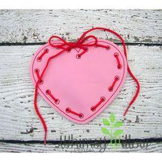 Heart Lacing Card