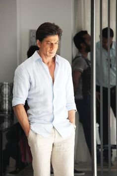 Image result for shahrukh khan white suit