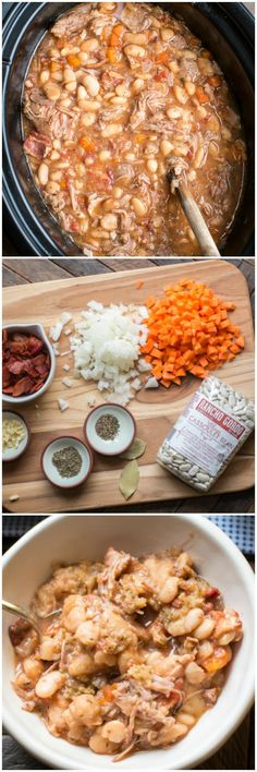 Slow Cooker Pork Cassoulet #cassoulet #slowcooker #crockpot #crockpotrecipes #pork #beans #whitebeans