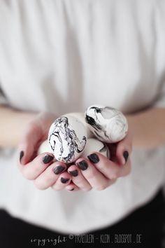 Orla Kiely für Clarks • marmorierte Ostereier - Fräulein Klein