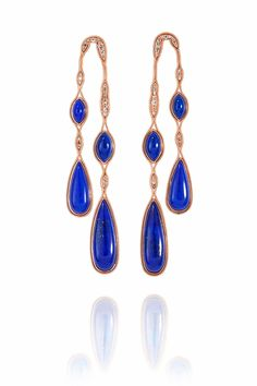 Rose gold and lapis lazuli earrings from Fernando Jorge (£2,895).
