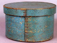 Antique teal pantry box( we have a similar one that contained belongings on trip from Scandinavian countries)