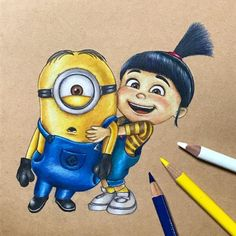 Newest Photographs cartoon drawing minions Thoughts : The joy of making a new cartoon character can be immeasurable. The action of building and acquiring a personality is no Cartoon Drawings, Disney Art Drawings, Cartoon Drawings Disney, Art Drawings, Minion Art, Disney Art, Cute Cartoon Drawings, Cute Drawings, Minion Painting