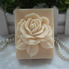 Creativemoldstore 1pcs Square Single Rose zx18 Craft Art Silicone Soap Mold Craft Molds DIY Handmade Soap Mould -- For more information, visit image link.