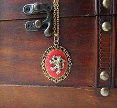 Harry Potter Gryffindor Cameo Necklace. £10.00, via Etsy.