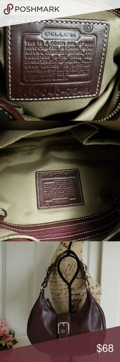 Coach purse Coach Burgundy purse.  Excellent condition. Coach Bags