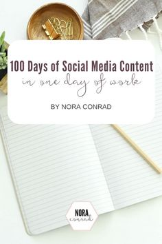 100 days of Social Media Content in 1 day.