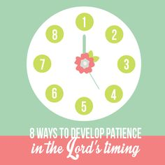 Learning Patience and trusting in the Lord's timing. I have a deeply personal testimony of the Lord's timing, and love these lesson handouts. #LDS #FHE