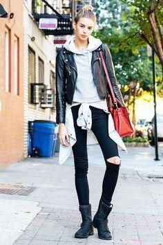 NYのモデル達、お気に入りのライダーススタイルは? ファッション(流行・モード) VOGUE JAPAN