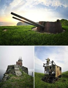 A small horseshoe-shaped island in the Sea of Japan that was once the setting of a war over its gold resources, Askold has been abandoned for decades. In 1892, the Headquarters of the Vladivostok Fortress created a permanent observation post there, and it became a point of tension between Russia and Japan. The island is cluttered with the remains of what little was built or left behind – the base of a long-gone pier, derelict lighthouses, rusted artillery, a power station, a command post…
