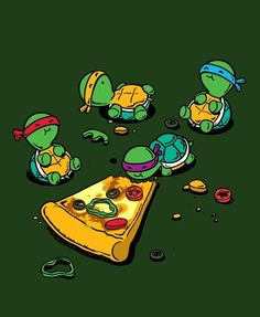 Baby TMNT - Pizza Time!