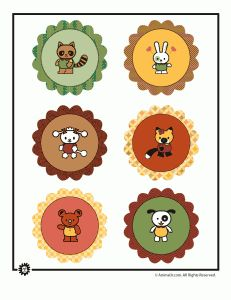FREE printable - have animal tables since all Kinders won't know numbers in the beginning of the year