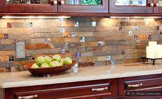 Subway Slate Glass Backsplash Granite Countertop Idea