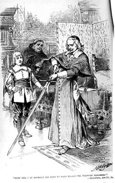 """""""""""The pen is mightier than the sword."""" An illustration of Cardinal Richelieu holding a sword, by H. Ogden, from 'The Works of Edward Bulwer Lytton' Easy Essay, College Reviews, Uncle Toms Cabin, Cultural Criticism, Famous Phrases, Short Essay, Argumentative Essay, Essay Topics, History Books"""