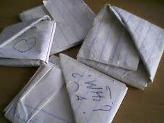 folded school notes