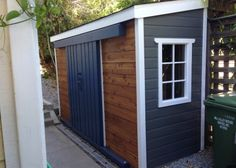 Shed Plans - A very unique Sarawak garden shed, can't decide between cedar or maintenance free siding? Mix and match! - Now You Can Build ANY Shed In A Weekend Even If You've Zero Woodworking Experience! Backyard Sheds, Outdoor Sheds, Garden Sheds, Outdoor Storage Sheds, Outdoor Spaces, Backyard Barn, Modern Backyard, Large Backyard, Outdoor Decor