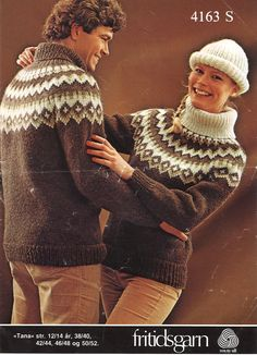 Norwegian Knitting, Icelandic Sweaters, Fair Isle Knitting, Knitting Projects, Knitwear, Knitting Patterns, Men Sweater, Jumpers, Casual