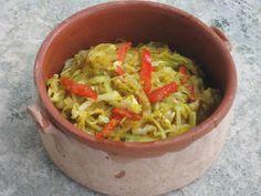 Brynt vitkål med kokosolja och curry