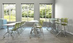 Tiered Classroom affect with furniture